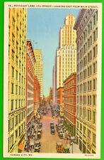 American Linen Postcard ~ Petticoat Lane, Kansas City, Missouri ~ 1947 ~ USA