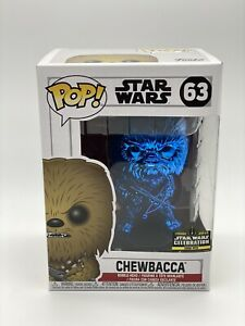 Funko Pop Blue Chrome Chewbacca #63 Star Wars Celebration 2019 Exclusive LE2500