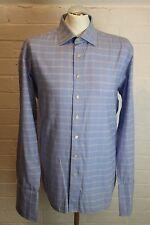 "BALMAIN PARIS Mens Check Pattern Cuff Sleeve SHIRT Size 16.5"" Collar - QUALITY!"