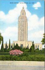 State Capitol Baton Rouge Louisiana LA UNP Linen Vtg Postcard