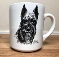 Vintage Scottie Dog Coffee Mug-White-Designed by Cindy Farmer 1980s