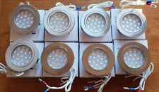 8 x 12v Dimatec 1.2w Touch Control led recessed Light Nickel Camper vw