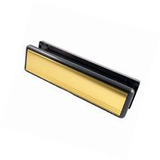 """10"""" pollici braccetto porta Buca delle lettere, Letterplate LUCIDO ORO Letter Box midrail 40 mm"""