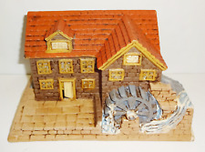 Vintage Water Mill Ceramic Christmas Village Hand Painted Byron Molds 1979