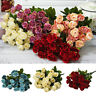 EE_ LN_ 1 Bouquet Artificial 27 Heads Fake Rose Faux Silk Flower Home Party Deco