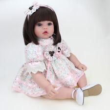 Reborn Girl Doll Xmas Gift Newborn Baby Dolls Toddler Toys Vinyl Silicone 22''