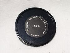 55mm metal screw in front lens cap , Vintage ,  #01177