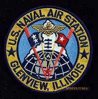 NAVAL AIR STATION GLENVIEW ILLINOIS NAS US NAVY USS PATCH PILOT MARINES PIN UP