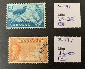 Sarawak Sg 191/177 F/U Cat £9.25