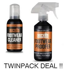 SCRUFFS FOOTWEAR CLEANER AND PROOFER TWO PACK INDUSTRIAL SHOE PROTECTION