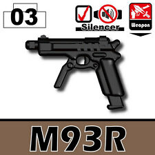 M93R (W144) Black Machine Pistol compatible with toy brick minifigures Army SWAT