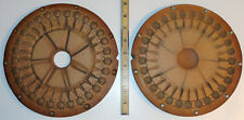 """Vintage 9"""" Rubber Spin Casting Mold 29 Brick Patterned Round Brooches Pendants"""