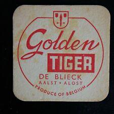 Sous-bock Golden Tiger De Blieck Aalst bierviltje bierdeckel coaster