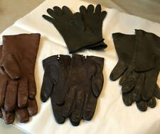 Lot Of 4 Womens Leather Gloves