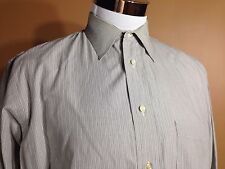 Burberrys Of London LS Button Front Shirt French Cuff Cotton 16.5 34 Made USA