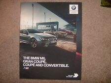 2017 BMW M6 COUPE GRAN COUPE CONVERTIBLE 100 YEARS COMPETITION PRESTIGE BROCHURE
