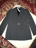 NEW ELLEN TRACY BLACK PIN STRIPE CLASSIC BUSINESS SUIT JACKET SIZE 10 NWT $448