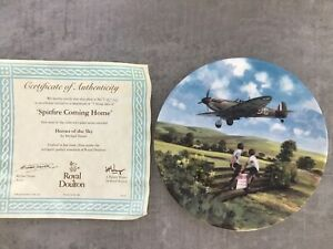 ROYAL DOULTON SPITFIRES COMING HOME, Heroes Of The Sky COLLECTORS PLATE