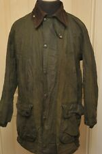 "BARBOUR BORDER A200 WAX COTTON JACKET GREEN 42"" / 107 CM VINTAGE *441"