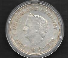 10 Gulden Argent -1945 - 10 g . 1970 sous capsule