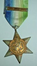 MEDALS-ORIGINAL WW2 BRITISH ATLANTIC STAR MEDAL PLUS FRANCE AND GERMANY CLASP