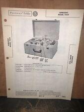 Operadio Recorder Model 11A55 -schematic's & Parts List- 1950 Original Copy.
