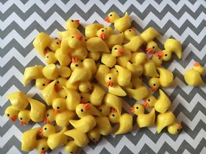 20pc. Yellow Rubber Duck, resin Cabochon, charm, jewelry