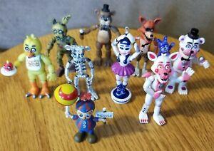 Lot of 9 Five Nights At Freddys Springtrap Balloon Boy Chica Foxy Freddy Ballora