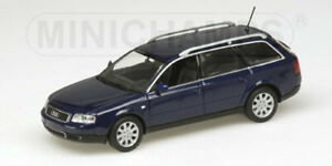 Audi A6 Avant 2001 Blue Metallic Minichamps 1:43 430010210