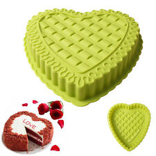 1Pc Big Heart Shape Silicone Cake Muffin Bread Pastry Baking Mold Pan Bakeware