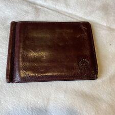 Vintage Christian Dior Slim Brown Leather Men's Bifold Wallet Classic Designer