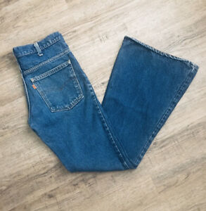 Levi's 684 Bell Bottom Jeans Orange Tab Men's Size 31x33* Vintage 1983 Inseam 31
