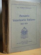 1924-ANNUARIO VETERINARIO ITALIANO 1922/1924-Prof.ALFREDO BARTOLUCCI+