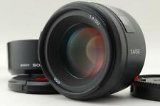 Mint Sony Alpha 50mm F1.4 SAL50F14 AF Objektiv aus Japan mit Gegenlichtblende