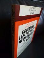 F. Smith Come I Bambini Imparare Leggere M. PROUX 1980 Retz Parigi Tbe