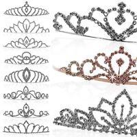 Brautschmuck Hochzeit Krone Diadem Tiara Damen Haarreif Prinzessin Strass Herz