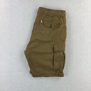 Levi's Men's 36 Khaki Cargo Shorts 100% Cotton EUC