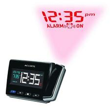 Black Atomic Projection Clock with USB Charger