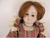 """Vintage Kestner  18"""" XI Reproduction Bisque Doll"""