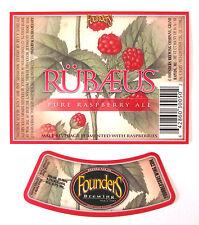 Founders Brewing RUBAEUS PURE RASPBERRY ALE  beer label MI 12oz  Var. #2