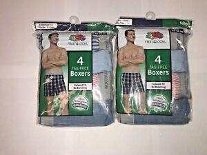 FRUIT OF  THE LOOM  MEN     BOXERS 8 PACK
