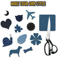20 Pcs 5 Colors DIY Iron On Denim Fabric Patches For Clothing Jeans Repair Kit