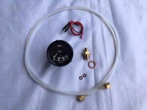 Mechanical Oil Pressure Gauge Kit.  Jaguar 0-60 Gauge