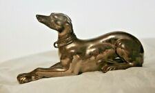 Antique Greyhound Dog Paperweight Whippet Gilt Metal, Jenning Brothers Foundry.