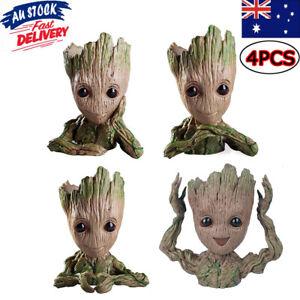 4xBaby Groot Planter Succulent Tree Man Figure Flowerpot Guardians of The Galaxy