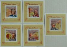 Scientists Galileo SET 5 SHEETS DELUXE Guinea-Bissau 2009 Mi.4444-48 #GB9610d