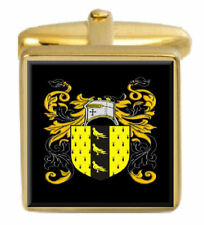 Nicholson England Family Crest Surname Coat Of Arms Gold Cufflinks Engraved Box