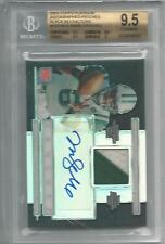 BGS 9.5 2009 Bowman Platinum BLACK REFRACTOR PATCH/10 AUTO Mark Sanchez RC 12/25