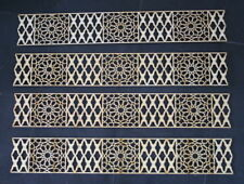 2lfdm Paneele Bordüre 8cm Dekor Ornament 'BlütenMush' orientalisch Verzierung