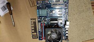 Gigabyte GA-970A-DS3 motherboard combo AMD FX 6100 6 core cpu Hyper 8GB ddr3 ram